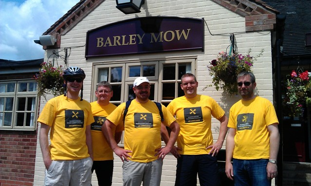 Outside the Barley Mow in Rugby
