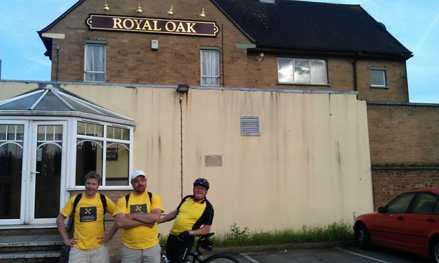 Outside the Royal Oak in New Bilton, Rugby