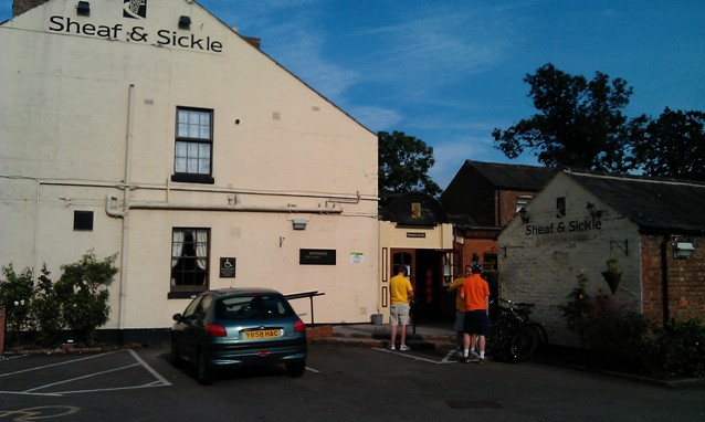 Outside the Sheaf & Sickle in Long Lawford
